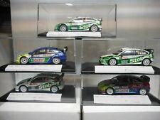 FORD FOCUS RS WRC RALLY MONTE CARLO 2006-08 WILSON,GRONHOLM,GALLI, HIRVONEN 1:43