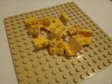 Lego (44728) Plate 2x2 Angle YELLOW X 15  CITY CREATOR CONSTRUCTION SPARE PARTS