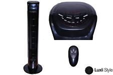3 Speed Black Oscillating Tower Fan with Remote Control and Timer Cooling Summer