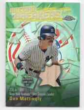 DON MATTINGLY 2003 TOPPS CHROME RECORD BREAKERS RELIC GAME USED BAT REFRACTOR