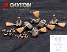 GOTOH SD90-SL RELIC Vintage Style Tuning Keys Tuners for Gibson® 3x3 AGED NICKEL