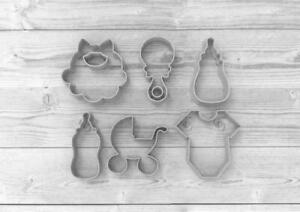 6 pcs Baby-Shower Biscuit Cookie Cutter Fondant Cake Decorating Mold Cupcake