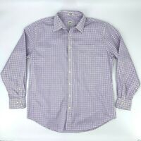 Peter Millar Button Down Shirt Men's Size XL Gingham Plaid Long Sleeve Nanoluxe