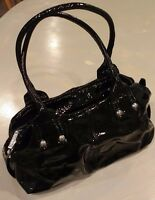 Authentic BALDININI Patent Leather Black bag made in Italy. purse / handbag