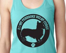 I Love My Pembroke Welsh Corgi Pet Fur Baby Pup Dog Women's Racerback Tank Top