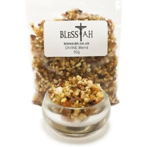 Blessiah DIVINE Blend Incense Church Resin with Frankincense and Myrrh 50g