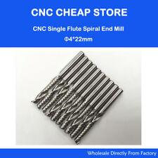 Promotion!!! 10pc Carbide endmill single flute spiral CNC router bits 4mm x 22mm