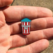 Wooder Ice Enamel Pin Blueberry Red White Philadelphia Water Ice South Philly