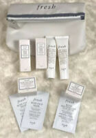 FRESH ROSE & SOY SET - 6 Mini Products + 3 Foil Packets + FRESH COSMETIC BAG NEW