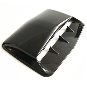 Shark Tooth Style Car Engine Vent Bonnet Cover Air Flow Intake Hood ABS Black