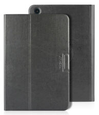 MACALLY BLACK ROTATING FOLIO CASE STAND COVER FOR APPLE iPAD MINI 1 2 3
