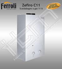 Scaldabagno a Gas GPL FERROLI Zefiro C 11 Lt Camera aperta Garanzia 2 anni