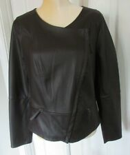 Max Studio Women Brown Faux Leather Jacket size M