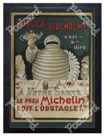 Historic Michelin Man 1898 Advertising Postcard