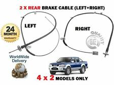 FOR NISSAN 2.5 D22 PICKUP NAVARA 2001-2008 2x REAR LEFT + RIGHT BRAKE CABLE 2WD