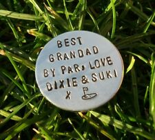 Personalised Golf Ball Marker Gifts For DAD Golfing Accessories Uncle Husband
