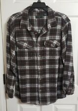 Vintage 90's Men's FIELD & STREAM Brown & Tan Flannel Plaid Shirt Size L