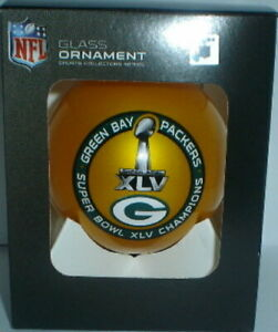 GREEN BAY PACKERS SUPER BOWL XLV 45 CHAMPS champions  CHRISTMAS ORNAMENT #3