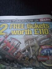ALTON TOWERS....SUN SAVERS CODE FOR SATURDAY 4TH JULY 2020BUY NOW £1.99