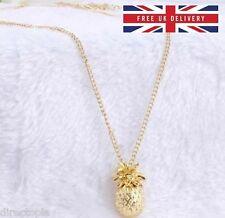 Cute 3D Pineapple Hawaii Necklace Pendant Charm Kawaii & Gift Bag