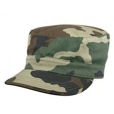 Camouflage Cap Woodland Hat Fitted Back Patrol CAP size XL 7 3/4