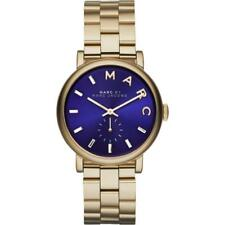 Marc By Marc Jacobs Unisex Watch Baker Gold Tone Navy Blue Dial MBM3343