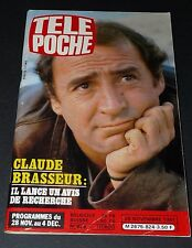 TELE POCHE #824 25/11 1981 CLAUDE BRASSEUR GD ORCHESTRE SPLENDID GODIER GENOUD