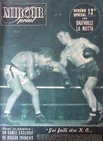BOXE  N° SPECIAL COMBAT DAUTHUILLE LA MOTTA 8 PAGES de PHOTOS MIROIR SPRINT 1950