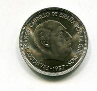 25 pesetas FRANCO 1957  * 65 SC SIN CIRCULAR  CON EL PLUS