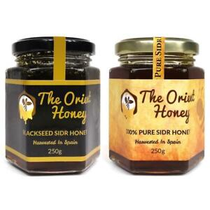 250g Black Seed Sidr + 250g Pure Sidr The Orient Honey Top Quality Raw Authentic
