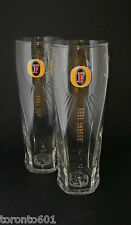 2 x Fosters Lager Pint Glasses  Official Brand New Toughened Nucleated