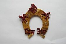 "#3093 2-7/8"" Horse Shoe,Cow Boy Embroidery Iron On Applique Patch"