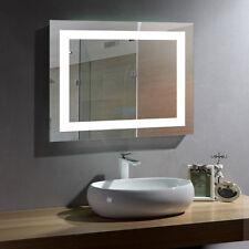 LED Lighted Mirror with Antifog Bluetooth Bathroom Vanity Wall Illuminate Mirror