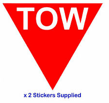 2 x Triangle - Red TOW Arrow Race / Rally Car Decals / Stickers