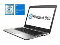 HP ELITEBOOK 840 (G3) CORE I5-6300U 2.4GHZ 128GB 256GB 512GB 1TB SSD Win10 Pro