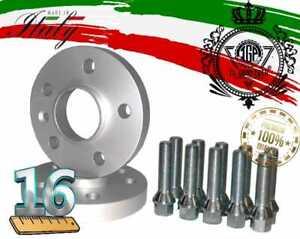 COPPIA 2 DISTANZIALI RUOTA 16mm CON BULLONI PER FIAT LANCIA ALFA ROMEO 4X98 58,1