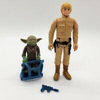 Vintage Star Wars ESB 1980 Luke Bespin Blaster Yoda w/ Training Basket Kenner
