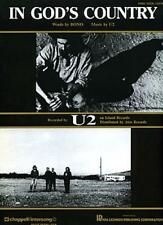 """U2 """"IN GOD'S COUNTRY"""" PIANO/VOCAL/GUITAR SHEET MUSIC-BRAND NEW ON SALE-BONO-RARE"""