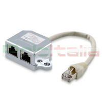 Splitter cavo di RETE Ethernet RJ45 Cat 5e FTP Lan adattatore patch per adsl pc