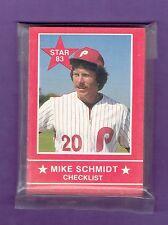 Mike Schmidt 1983 Star Company  Baseball Set (15) Philadelphia Phillies