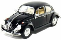 NEW Kinsmart 1967 Volkswagen Classical Beetle VW diecast 1:24 model toy Black