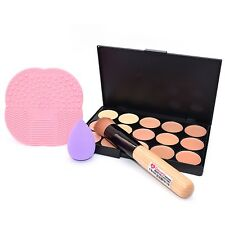 Dolovemk Face Makeup Kit Contour Palette Concealer +Brush +Sponge +Cleansing Pad