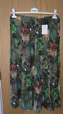 NWT MULTI COLOURED TROPICAL PATTERNED MAXI SKIRT BY ERFO SIZE 14- 16 RRP £95