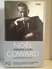NOEL COWARD ~ PRIVATE LIVES + BIOGRAPHICAL FILM ~ 2 RARE VHS VIDEOS ~ AS NEW