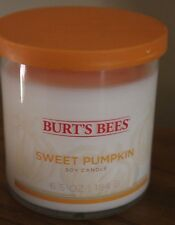 Burt's Bee's Soy Wax Candle 6.5 oz SWEET PUMPKIN 2 Wick Discontinued Scent