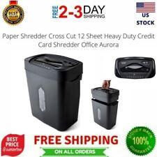 Paper Shredder Cross Cut 12 Sheet Heavy Duty Credit Card Shredder Office Aurora