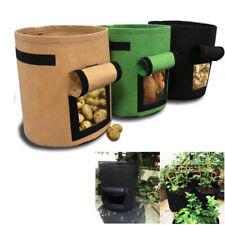 4 7 10 gallon Plant grow Bags pot Veg fruits fabric tomato Potato planting bag
