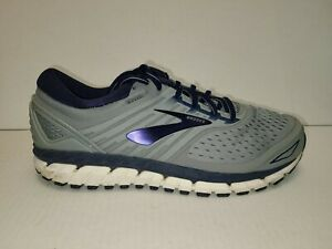 Brooks Mens Beast 18 1102821D015 Grey Blue Running Shoes Lace Up Size 10 D