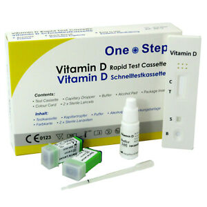 Vitamin D Test Kit, Level Insufficiency Deficiency Rickets Blood Testing Kits