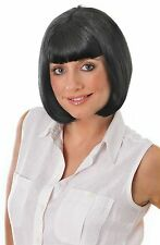 MIA WALLACE SHORT WIG BLACK FANCY DRESS ADULT ACCESSORY